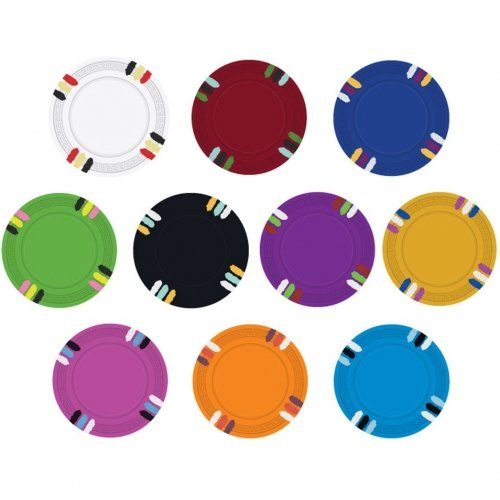 12 Stripe Custom Poker Chip