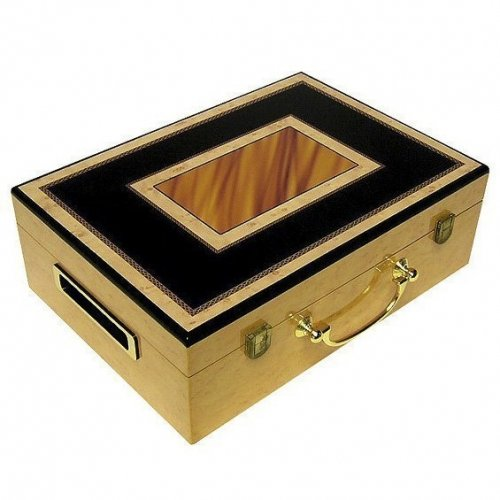 Hi-Gloss Wooden Chip Poker Case