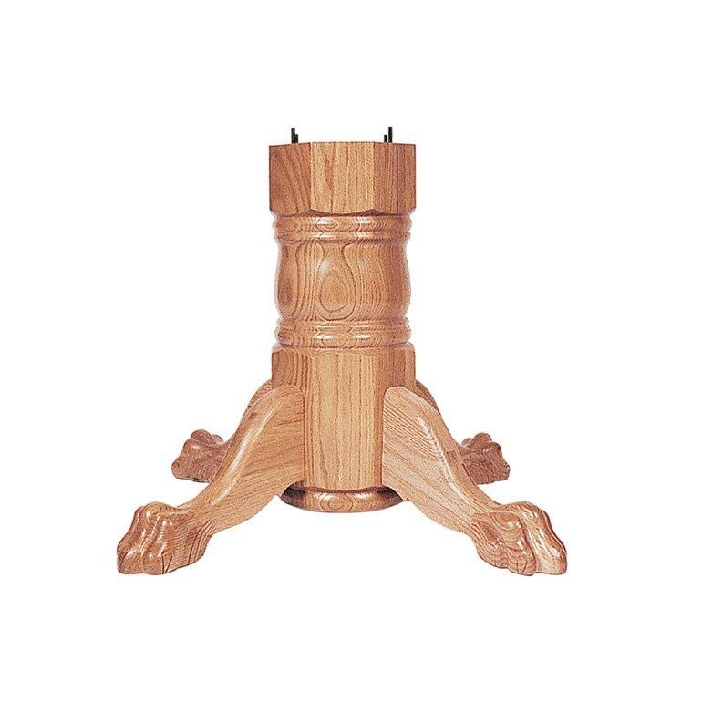wood pedestal base - Pedestal Table Base