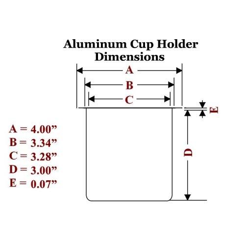 Aluminum Cup Holder Dimensions