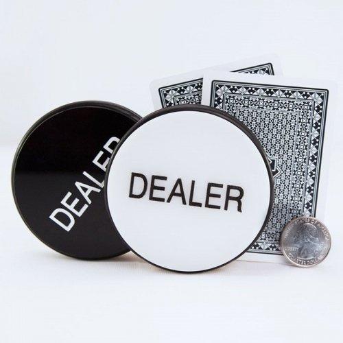 Black White Dealer Puck