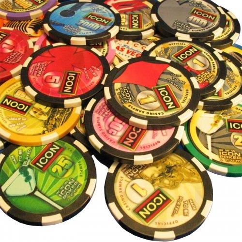 Custom Icon Poker Chips