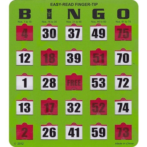 Easy Read Bingo Cards
