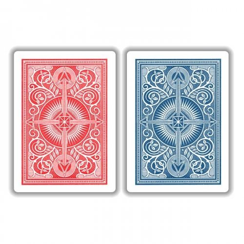 KEM Red Blue Arrow Playing Cards