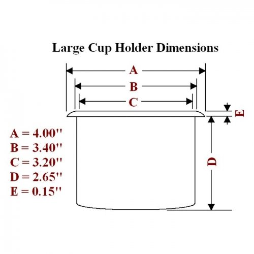 Large plastic cup holder dimension