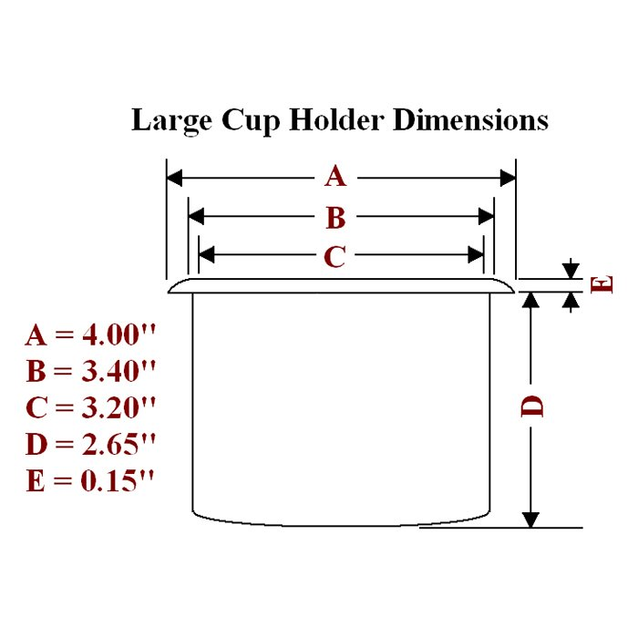 Large plastic cup holder dimension