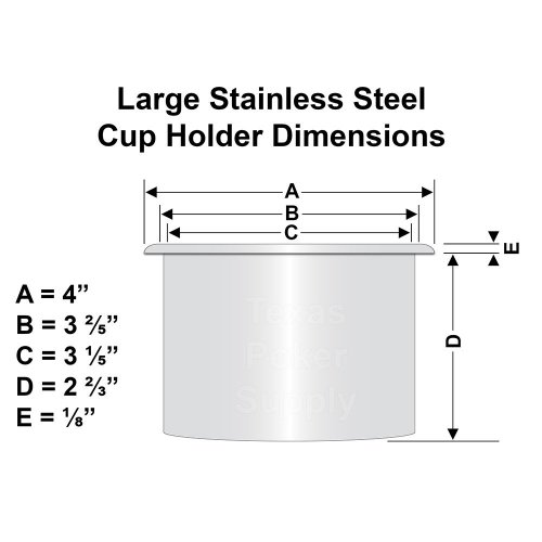 Large Stainless Steel Cup Holder Dimensions