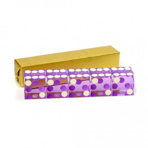 Purple serialized casino dice