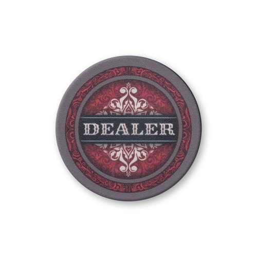 Red Ornate Dealer Button