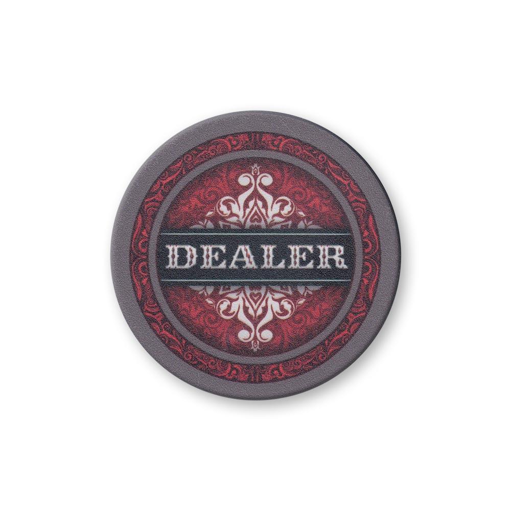 Red Ornate Dealer Button