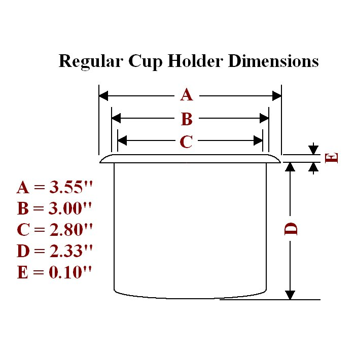 Regular plastic cup holder dimensions