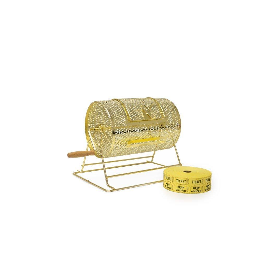 Small brass raffle drum