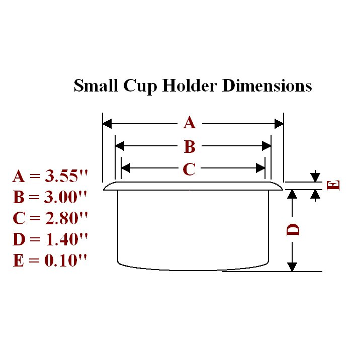 small plastic cup holder dimensions