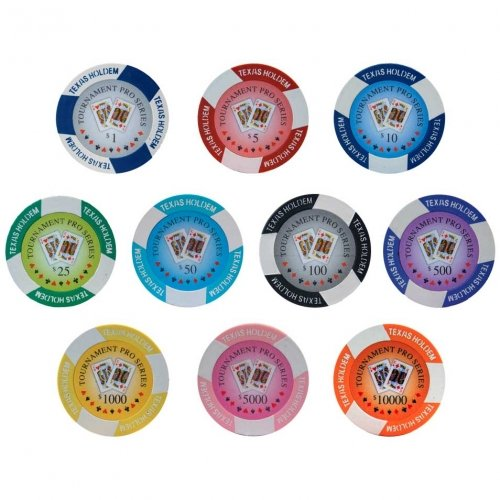 Tournament Pro Series Poker Chips