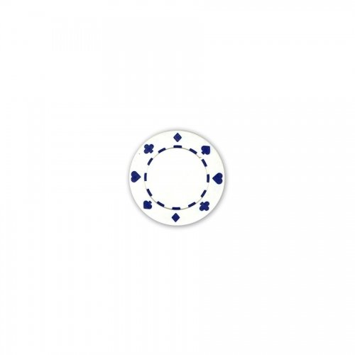 White Suited Poker Chips